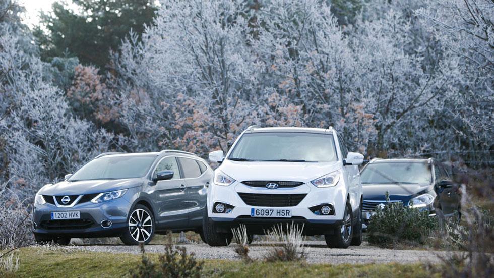 Comparativa: Hyundai ix35 2.0 CRDI 136 vs Nissan Qashqai 1.6 DCI 130 y Suzuki S-Cross 1.6 DDIS 120