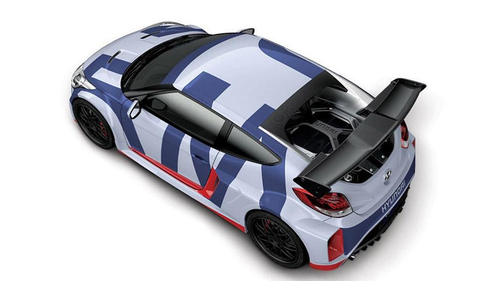 Hyundai Veloster Midship Concept, con motor central y propulsión trasera