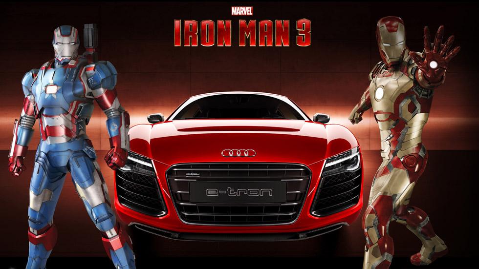 Audi R8 e-tron: el coche protagonista de Iron Man 3