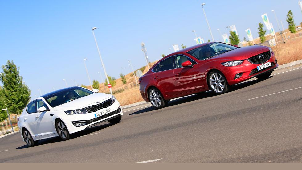 Kia Optima Hybrid vs Mazda 6 2.2 Skyactiv-D