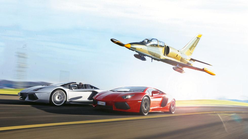 Lamborghini Aventador LP700-4 vs Aero L-39 Albatros: coche vs avión