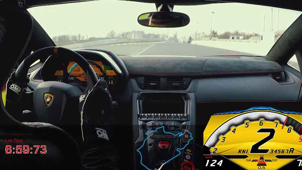 Lamborghini Aventador LP 750-4 SV, menos de 7 minutos en Nürburgring (vídeo)
