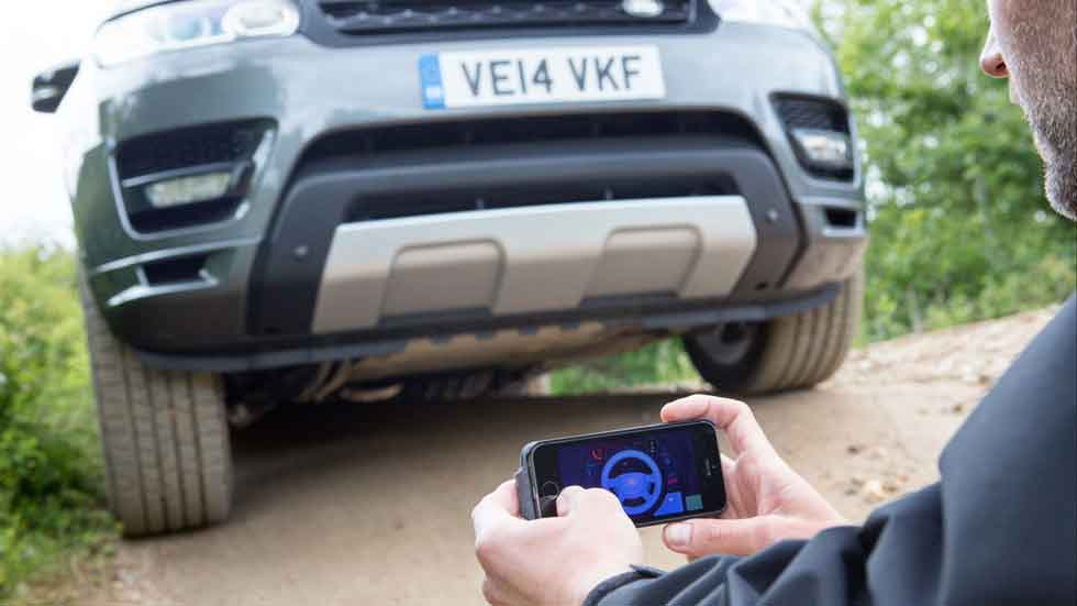 El Land Rover que se conduce desde el móvil (Vídeo)