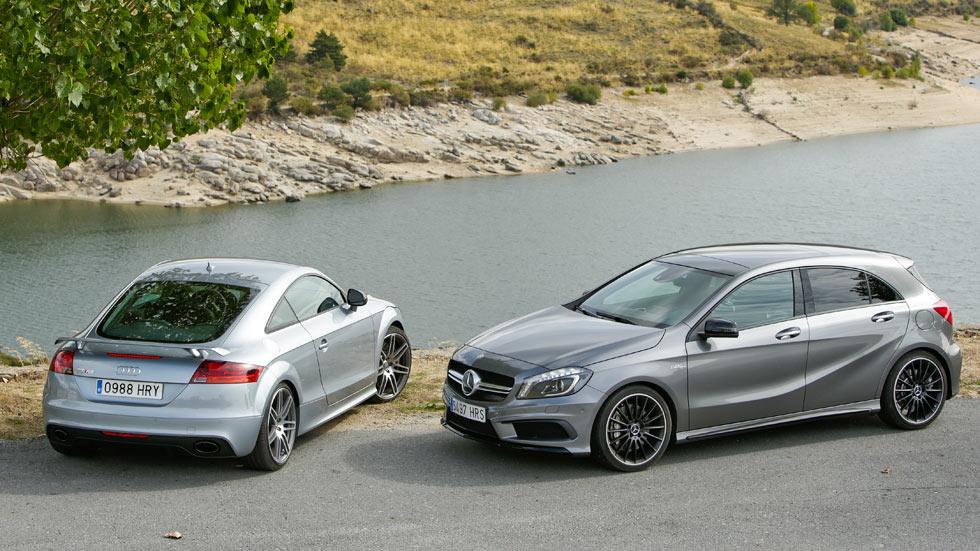 Comparativa: Audi TT RS Plus vs Mercedes A 45 AMG