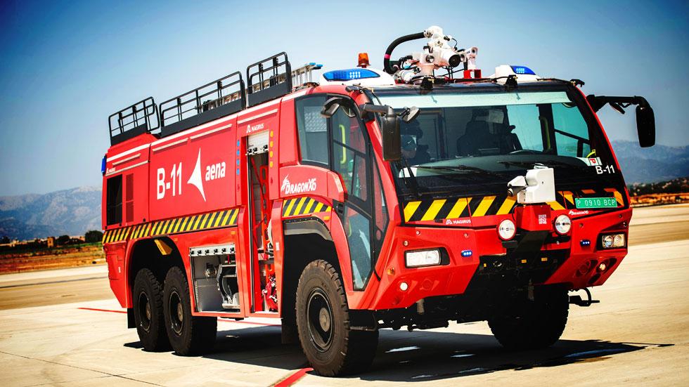 Magirus Dragonx6, el camión contraincendios para el Aeropuerto de Palma
