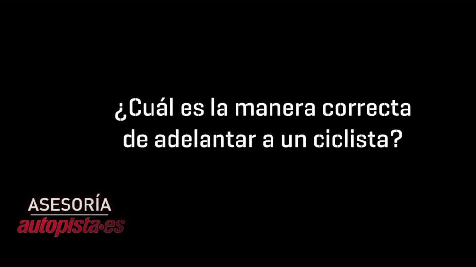 ¿Cuál es la manera correcta de adelantar a un ciclista?