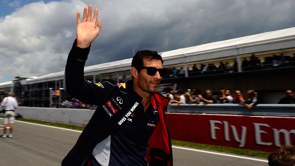 Mark Webber, 'bye bye' a Red Bull