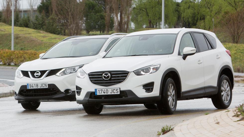 Comparativa: Mazda CX-5 2.0 Skyactiv-G vs Nissan Qashqai 1.6 DIG-T