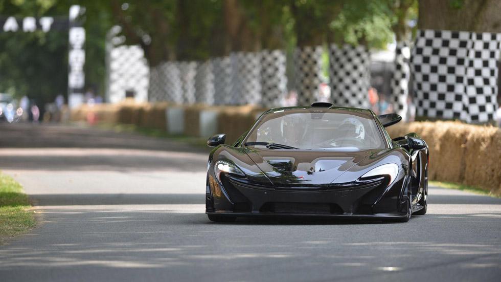 Button, al volante del McLaren P1 en Goodwood