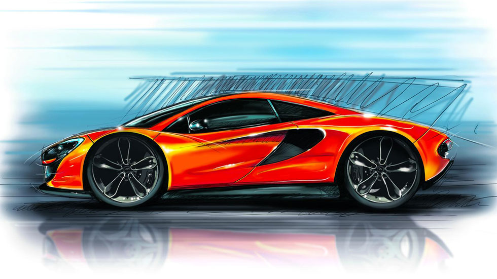 McLaren P13, primeros detalles a mano alzada