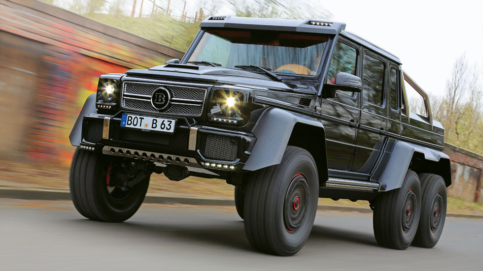Primera prueba brabus 700 6x6 brutus for Mercedes benz 6x6 precio