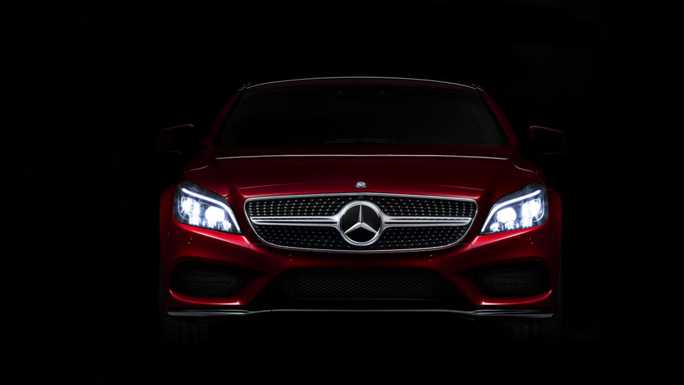 El Mercedes CLS 2015, con nuevas luces Multibeam Led