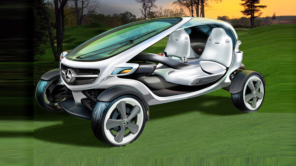 Mercedes Vision Golf Cart, un carrito de golf con estrella