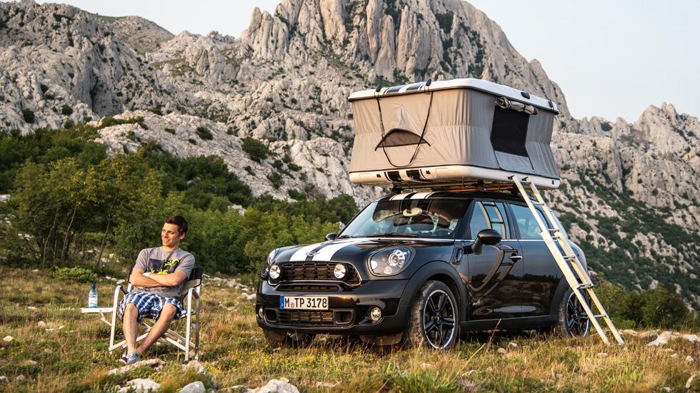 Los Mini para ir de camping, originalidad al poder
