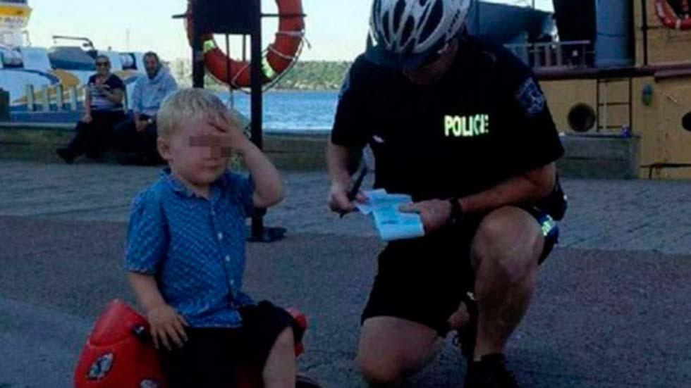 El infractor precoz: multado a los tres años de edad