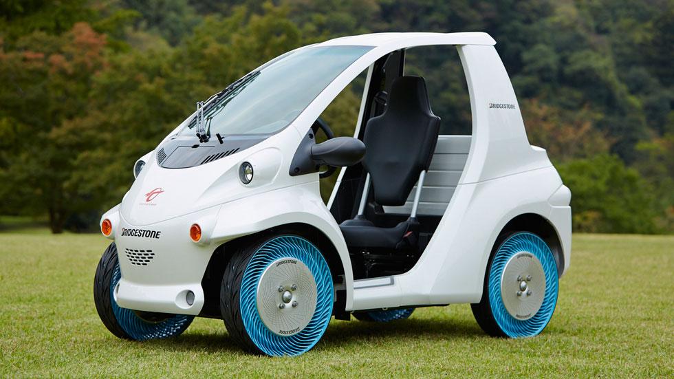 """El neumático sin aire, ya """"rueda"""""""