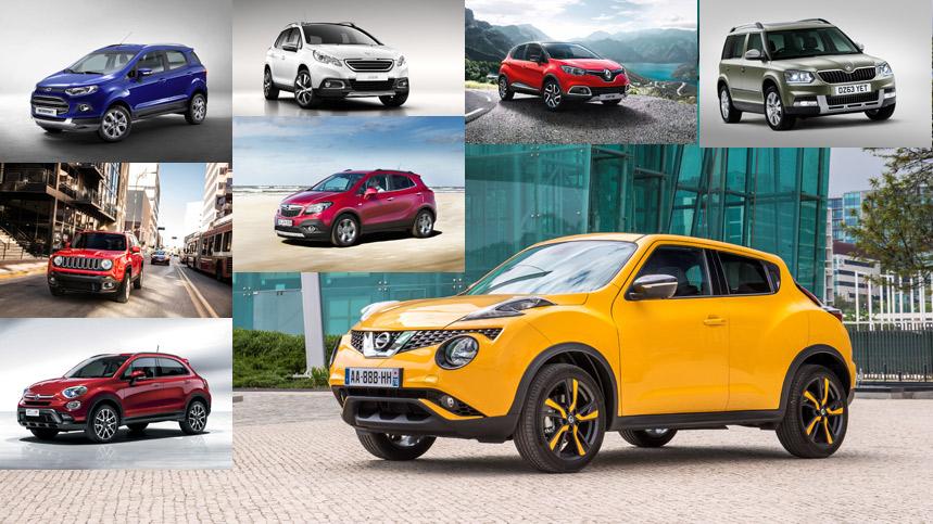 Nissan Juke y sus rivales SUV urbanos