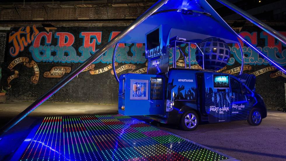 Nissan PART e-VAN, la furgoneta eléctrica convertida en discoteca