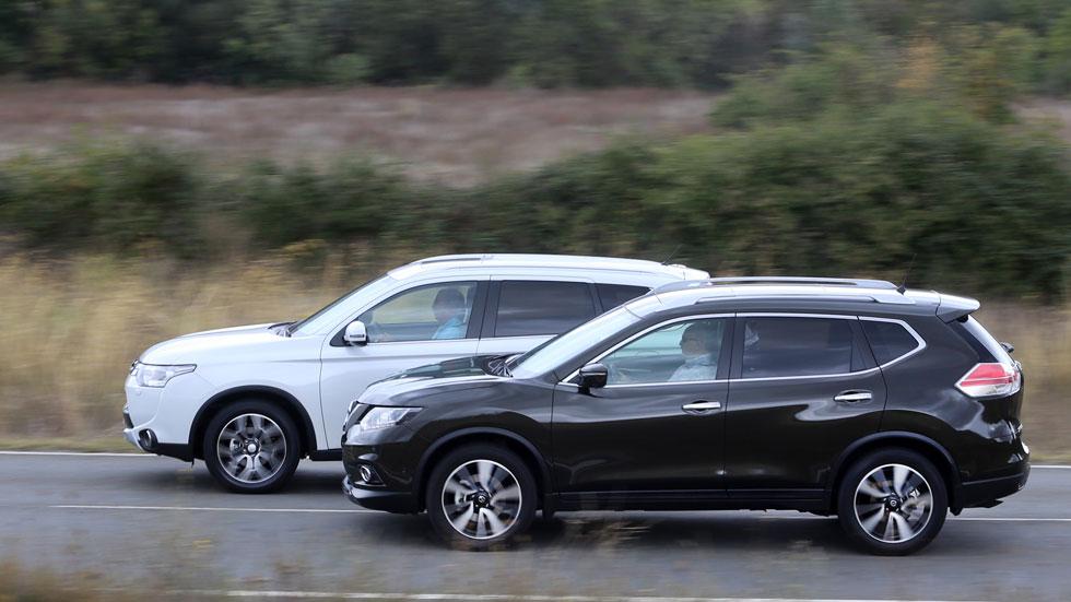 Comparativa: Mitsubishi Outlander220 DI-D 150 4WD 7 plz vs Nissan X-Trail 1.6 dCi 130 4x4-i 7 plz