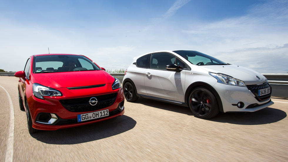 Opel Corsa OPC contra Peugeot 208 GTI 30th, rock duro