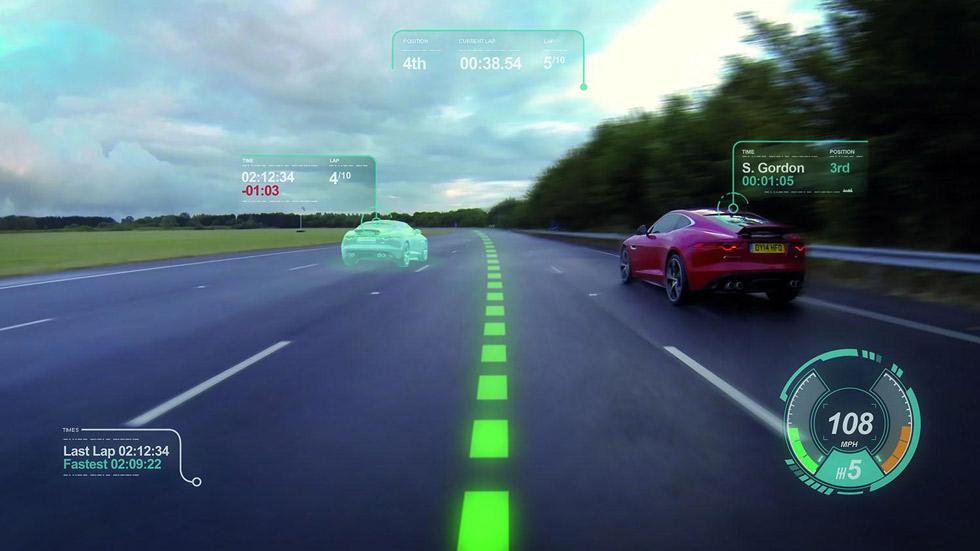 El nuevo parabrisas virtual de Jaguar Land Rover te da clases