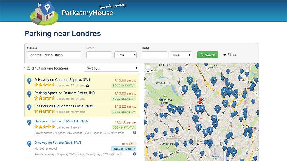 ParkatmyHouse, la app que puede acabar con los problemas de aparcamiento