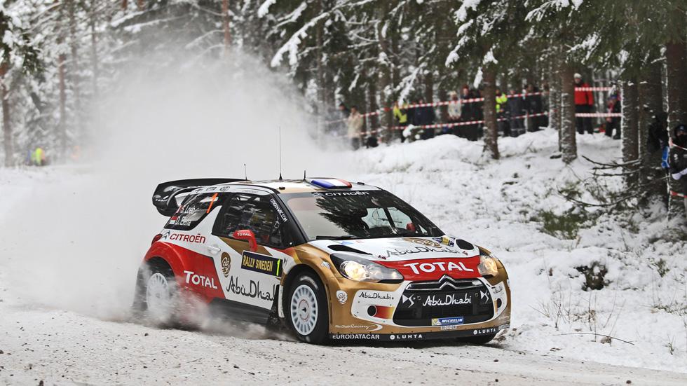 Rallye de Suecia jueves: Sébastien Loeb, primer líder