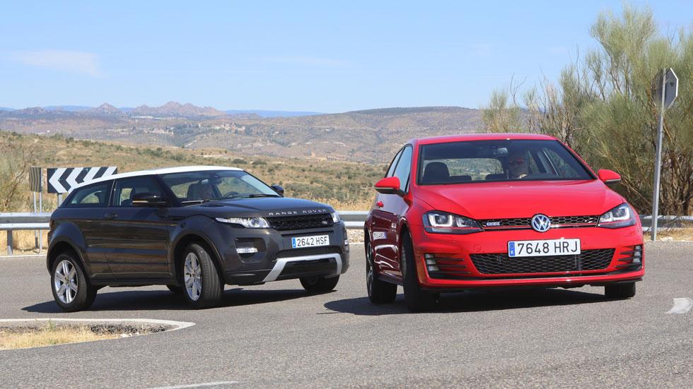 Comparativa: Range Rover Evoque 2.2 TD4 vs Volkswagen Golf GTI