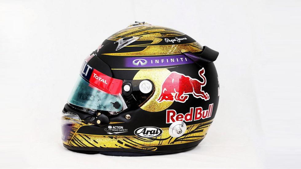 ¡De récord! Un casco firmado por Vettel, subastado por 86.500 euros