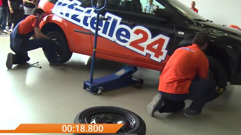 Cambio de ruedas… ¡en menos de un minuto! (Vídeo)
