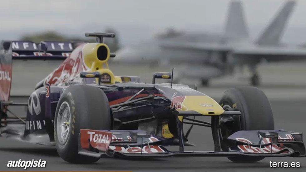 Red Bull desafía al avión de combate F18
