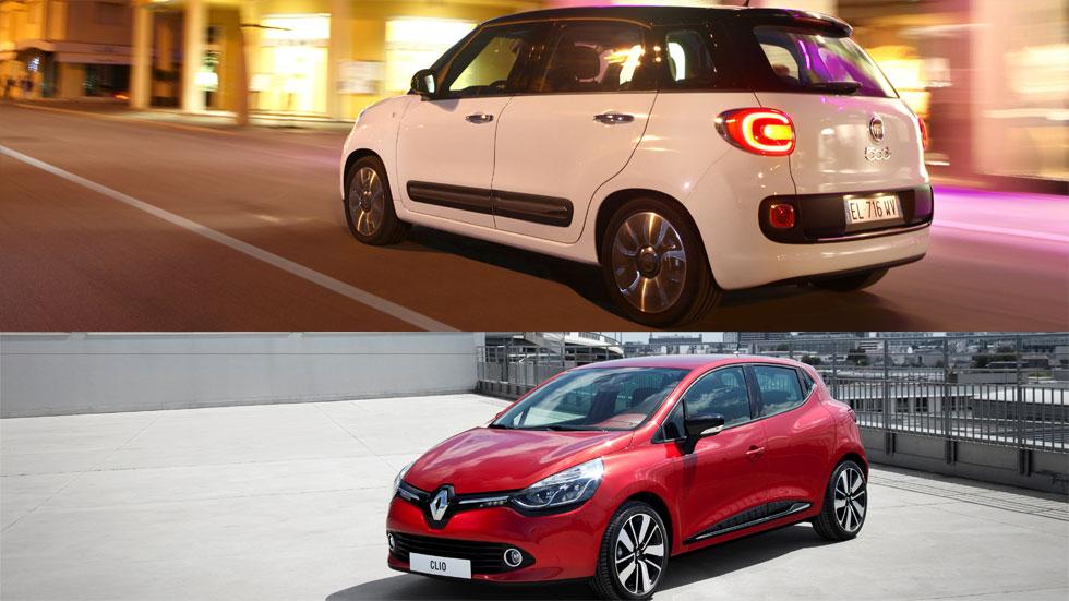 Los Renault Clio y Fiat 500L, las pólizas más baratas de los coches más seguros