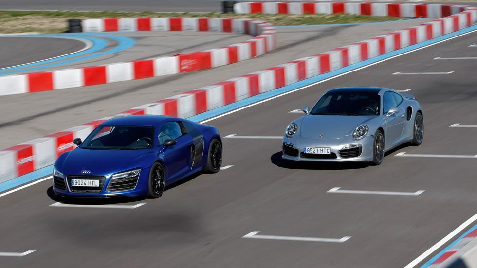 Audi R8 V10 Plus y Porsche 911 Turbo S, tecnología deportiva cara a cara