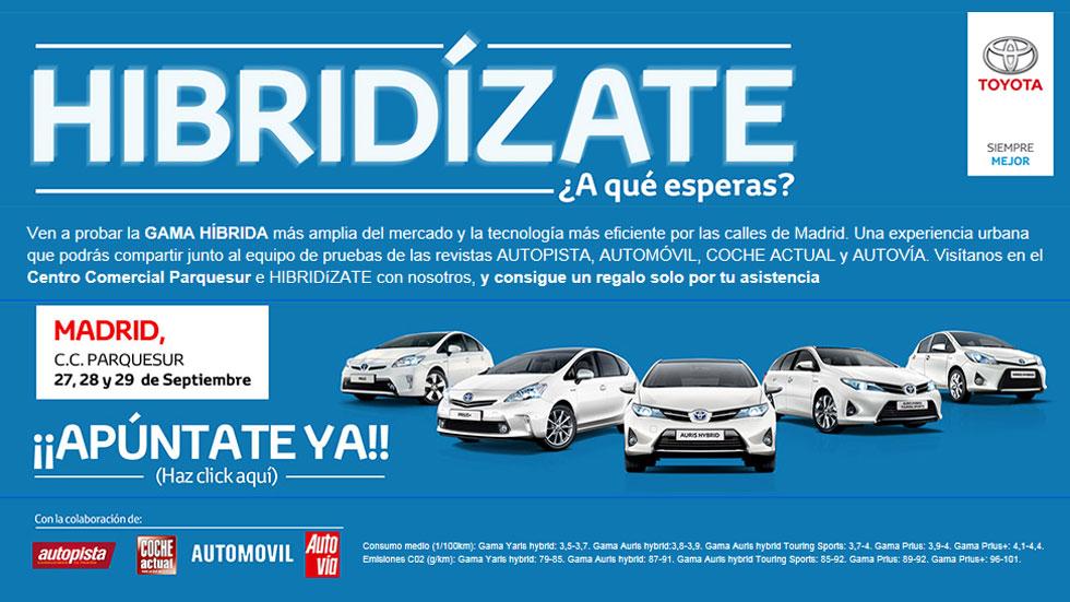 Prueba la gama híbrida de Toyota: ¡hibridízate!