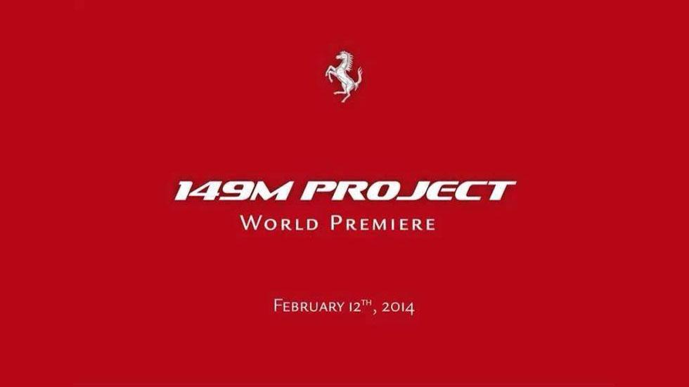 149M, un nuevo Ferrari está en camino
