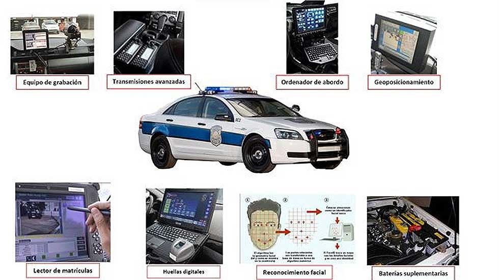 El Vehículo Policial Conectado se presenta en Vehipol