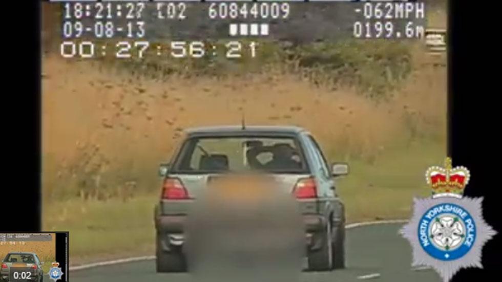 Vídeo: cazado conduciendo a 100 km/h… ¡sin manos!