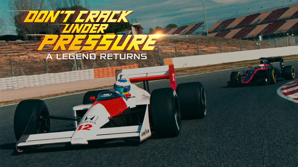 Vídeo: Alonso, al volante del mítico McLaren MP4-4 de Senna