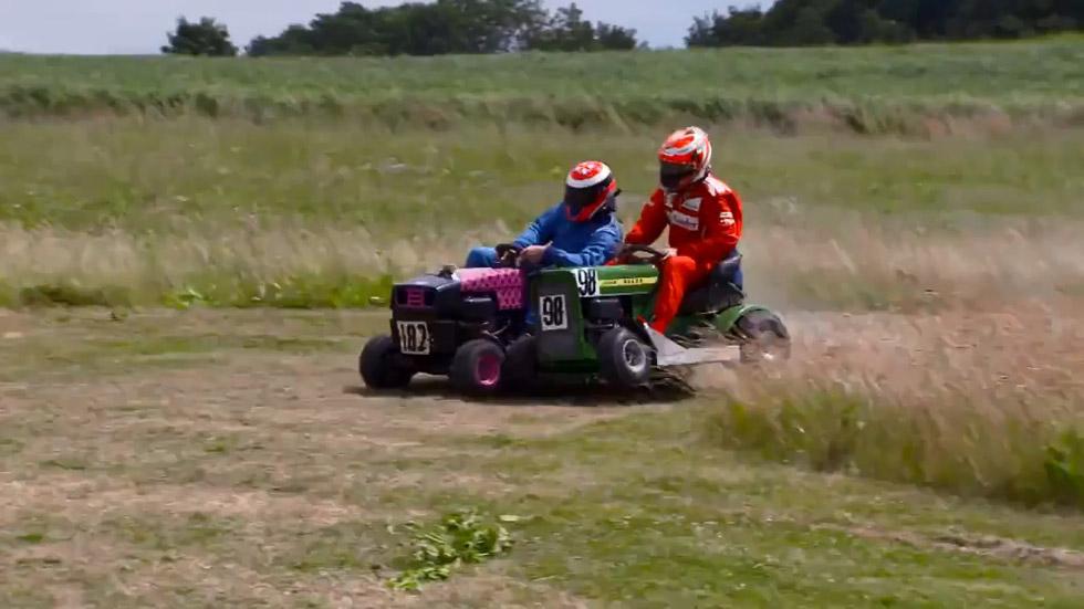 Vídeo: Räikkönen se lo pasa pipa en una carrera de cortacésped