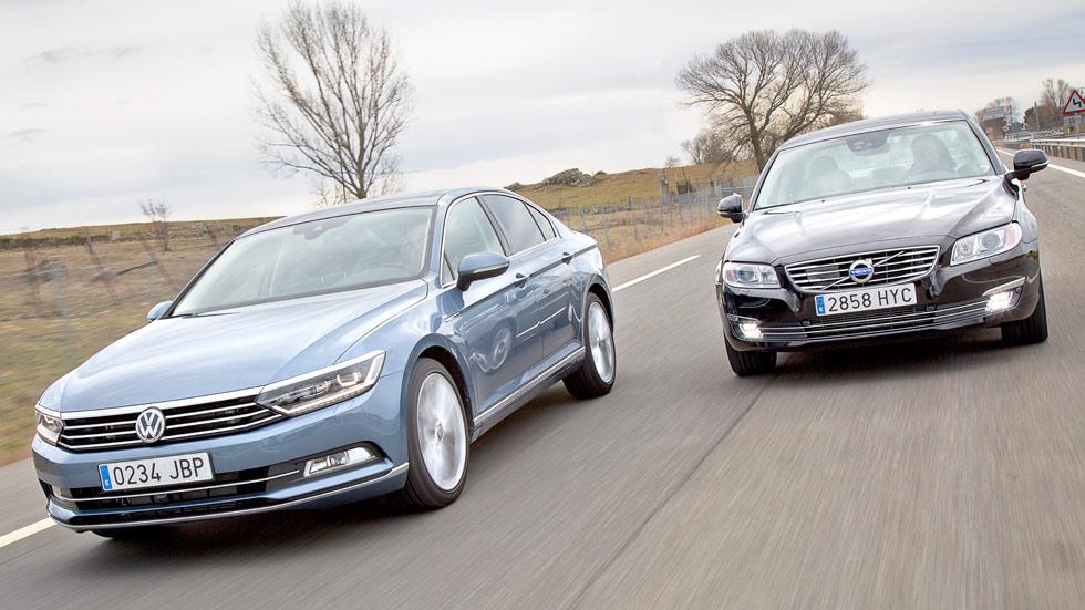 Comparativa: VW Passat 2.0 TDi BiT 4Motion DSG vs Volvo S80 D5 AWD Aut.