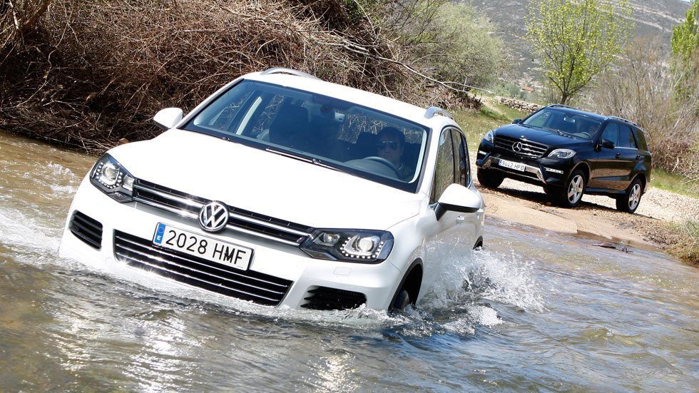 VW Touareg TDI Bluemotion vs Mercedes M250 BT 204 4Matic