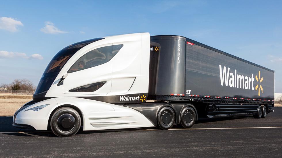 Walmart Wave Concept, el camión del futuro: híbrido y con fibra de carbono