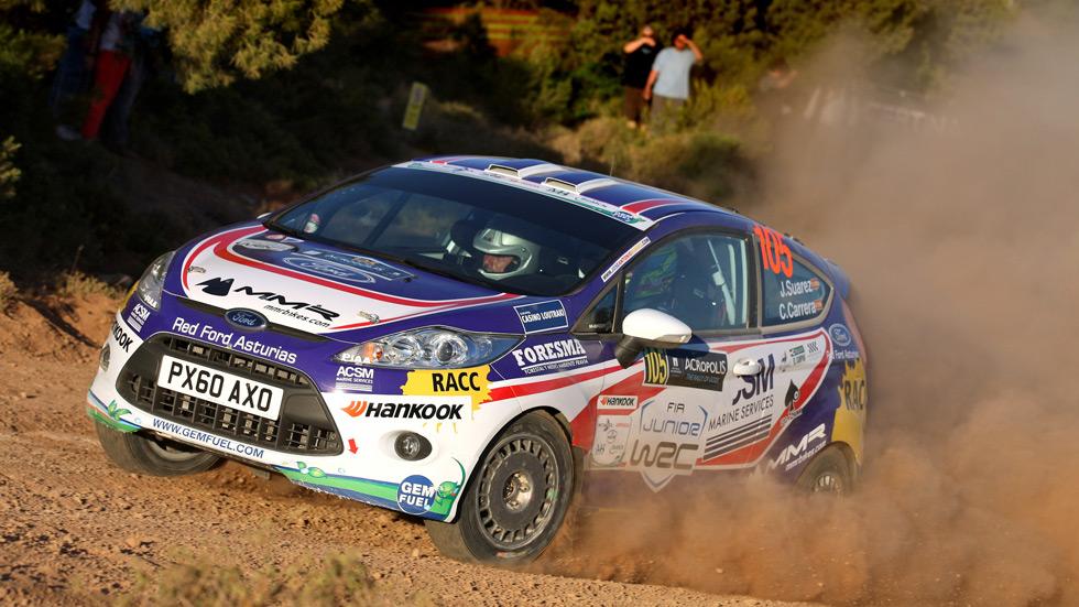 WRC Grecia, sábado: Suárez, líder en Junior