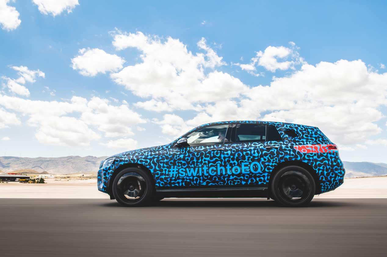 Mercedes EQC, su primer SUV eléctrico de pruebas por Almería