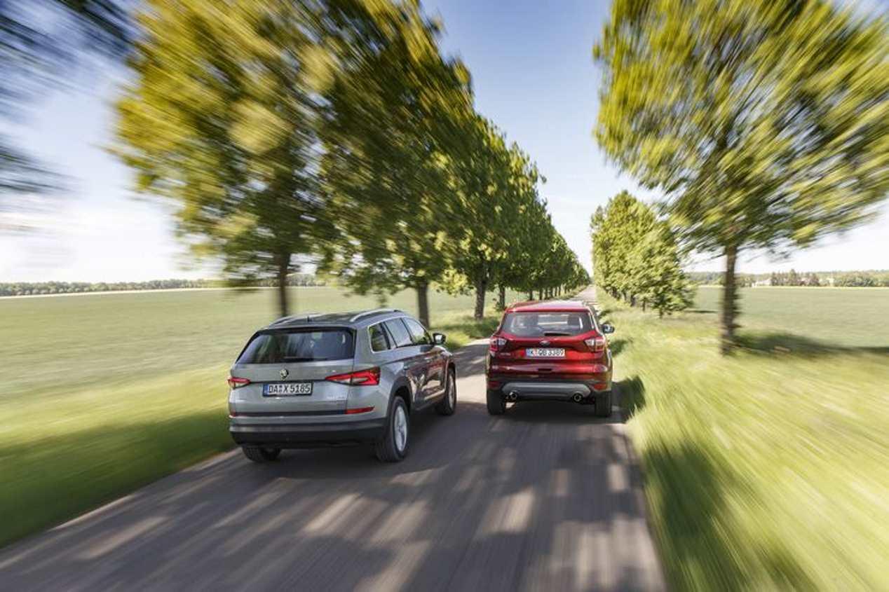 Comparativa: Ford Kuga 2.0 TDCI vs Skoda Kodiaq 2.0 TDI