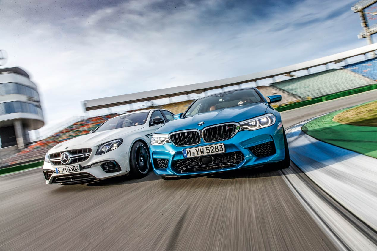 BMW M5 frente a Mercedes-AMG E63, ¡espectaculares!