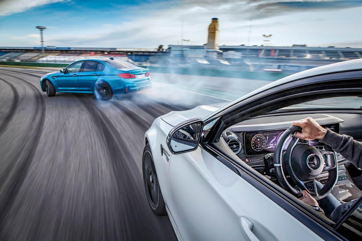 BMW M5 frente a Mercedes-AMG E63, ¡espectaculares!