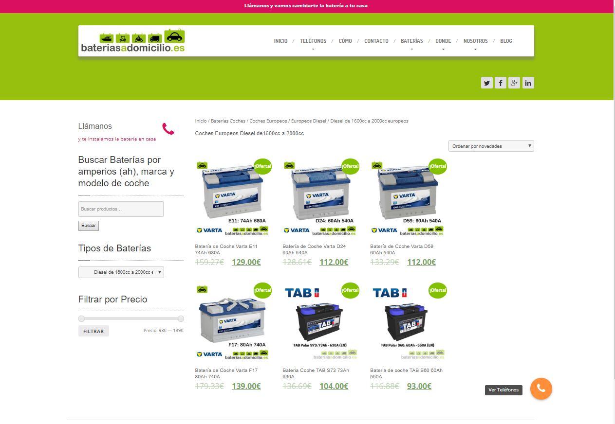 Baterías a domicilio: una nueva web para solucionar averías