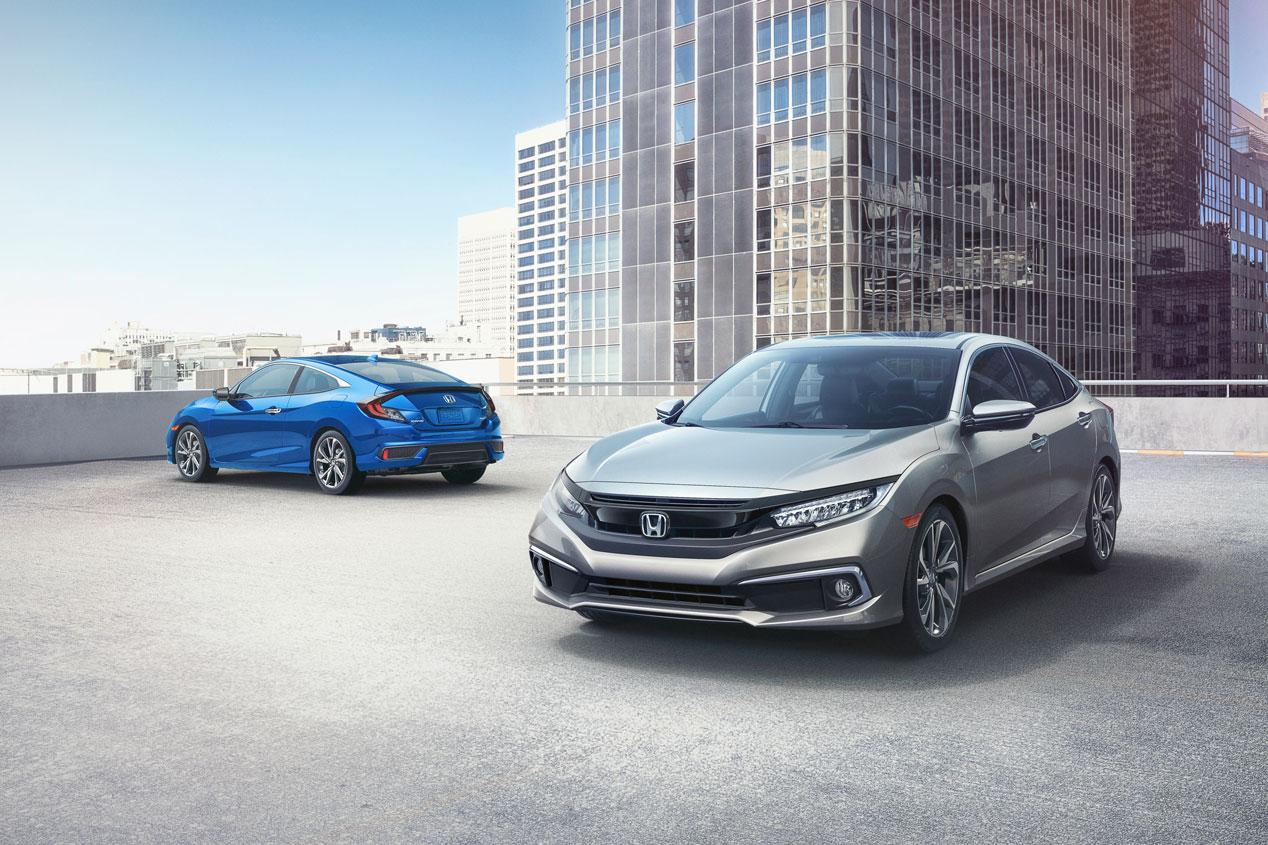 Los Honda Civic Sedán y Coupé 2019, en imágenes