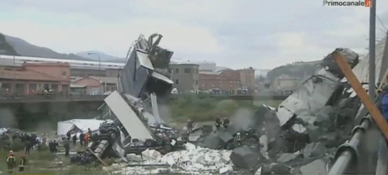 Tragedia del puente caído en Génova: primeras imágenes